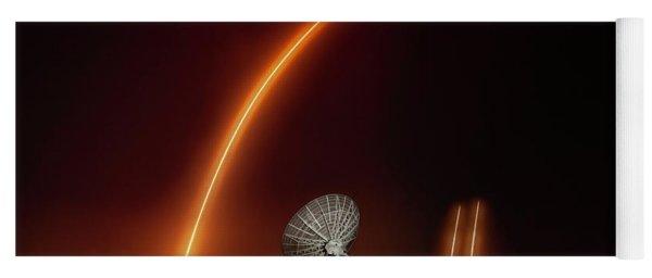 Falcon Heavy Night Launch And Landing Yoga Mat