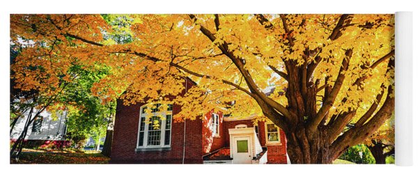 Fall At Goss Reading Room Yoga Mat