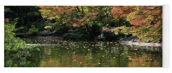 Fall At The Japanese Garden Yoga Mat
