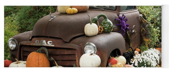 Fall Decoration Yoga Mat