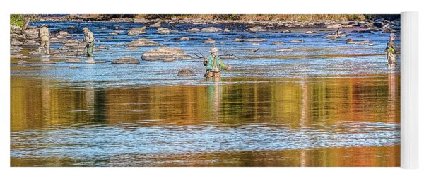 Fall Fishing Reflections Yoga Mat