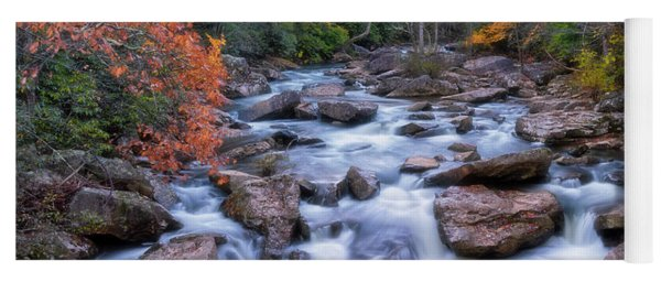 Yoga Mat featuring the photograph Fall Flow by Russell Pugh