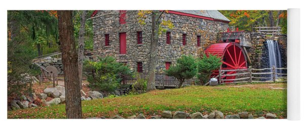 Fall Foliage At The Grist Mill Yoga Mat