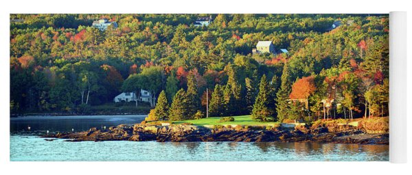 Yoga Mat featuring the photograph Fall Foliage In Bar Harbor by Bill Swartwout Fine Art Photography