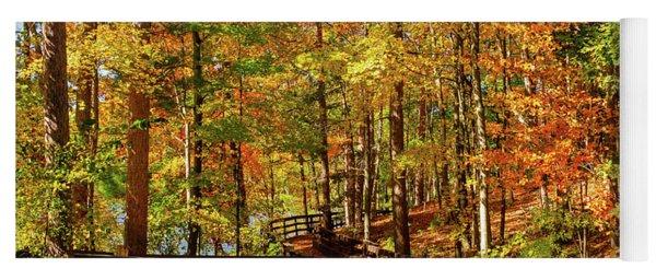 Fall Hike At Mirror Lake Yoga Mat