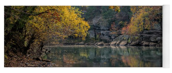 Yoga Mat featuring the photograph Fall In Arkansas by Joe Sparks