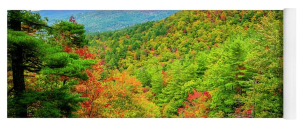 Yoga Mat featuring the photograph Fall In The Smokies by Andy Crawford