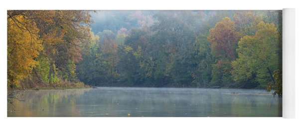 Fall On Richland Creek Yoga Mat