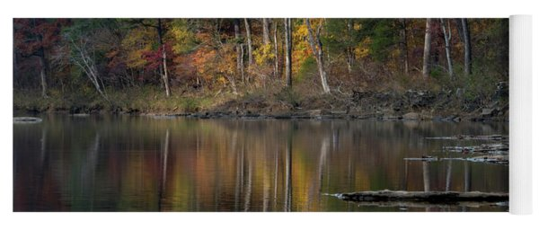 Yoga Mat featuring the photograph Fall Reflections by Joe Sparks