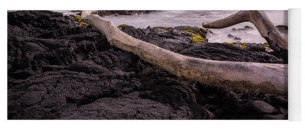 Fallen Tree At Punalu'u Beach Yoga Mat