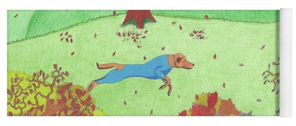 Falling Leaves Yoga Mat