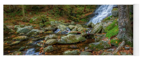 Yoga Mat featuring the photograph Falls Brook Autumn by Bill Wakeley