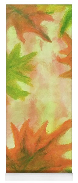 Fanciful Fall Leaves Yoga Mat