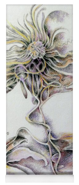 Yoga Mat featuring the drawing Fantasy by Rosanne Licciardi