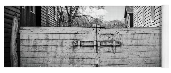 Yoga Mat featuring the photograph Farm Gate by Steve Stanger