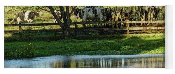 Farm Pond And Cows Yoga Mat