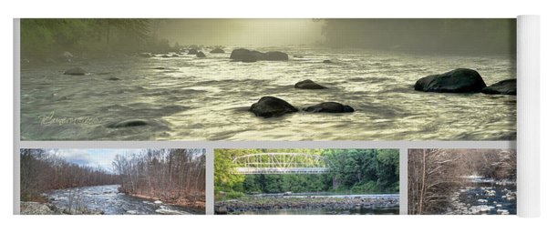 Farmington River Collage Yoga Mat