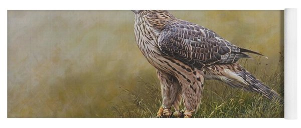 Female Goshawk Paintings Yoga Mat