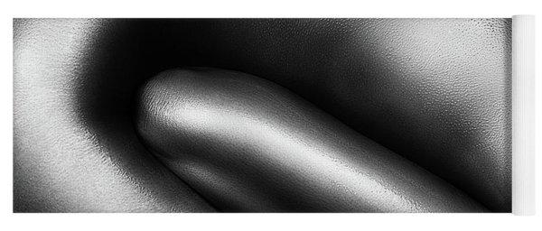 Female Nude Silver Oil Close-up 3 Yoga Mat