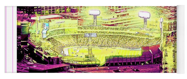 Fenway Park Boston Massachusetts Digital Art Yoga Mat