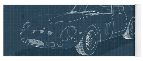 Ferrari 250 Gto - Blueprint Yoga Mat