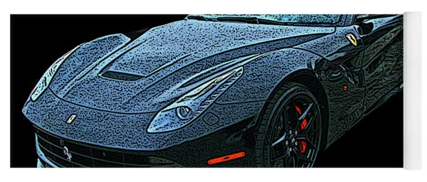 Ferrari F12 In Black Yoga Mat