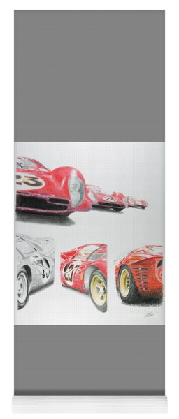 Ferrari P4 Daytona 1967 Yoga Mat