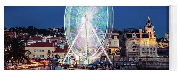 Ferris Wheel In Cascais, Portugal Yoga Mat