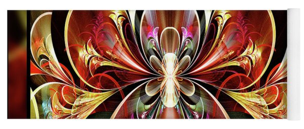 Yoga Mat featuring the digital art Festival by Missy Gainer