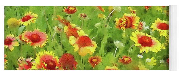 Fields Of Gold - Wildflowers Yoga Mat
