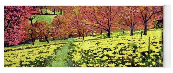 Fields Of Golden Daffodils Yoga Mat