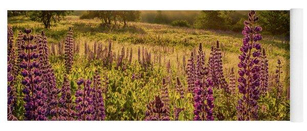 Fields Of Lupine Yoga Mat