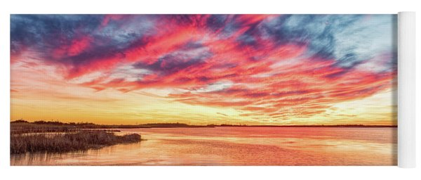 Yoga Mat featuring the photograph Fiery Sky by Russell Pugh
