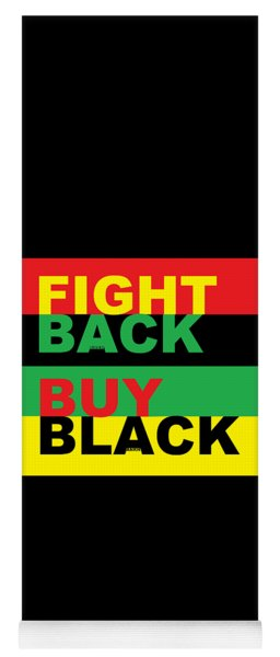 Fight Back Buy Black Yoga Mat