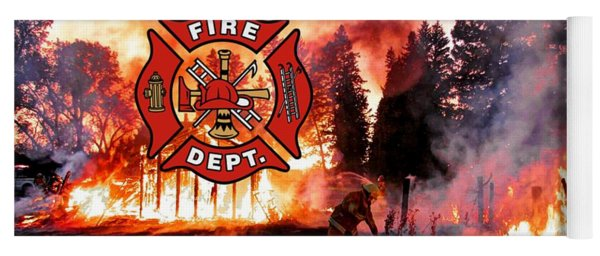 Fire Fighting 3 Yoga Mat