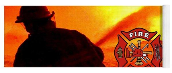 Fire Fighting 6 Yoga Mat