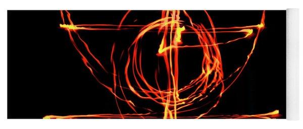 Fire Light Drawing Yoga Mat