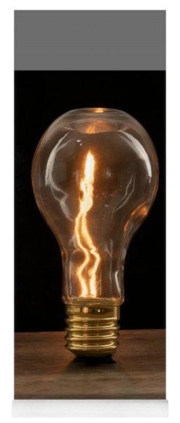 Fire Sparks Inside A Light Bulb Yoga Mat