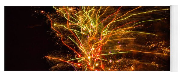Fireworks Bad Space Day Yoga Mat