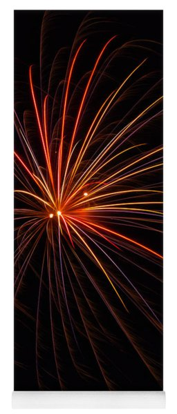Fireworks Burst Yoga Mat