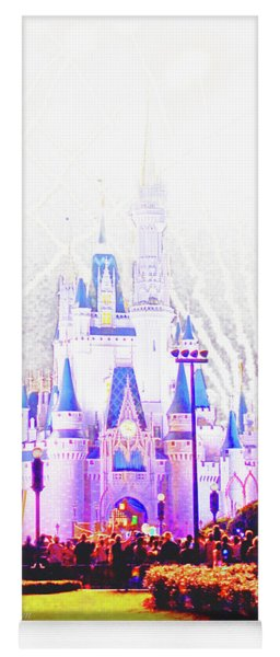 Fireworks, Cinderella's Castle, Magic Kingdom, Walt Disney World Yoga Mat