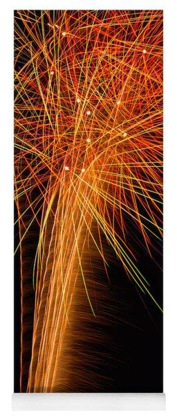 Fireworks Cone Yoga Mat