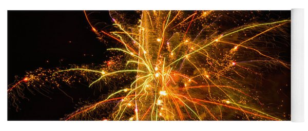 Fireworks Neuron Explosion Yoga Mat