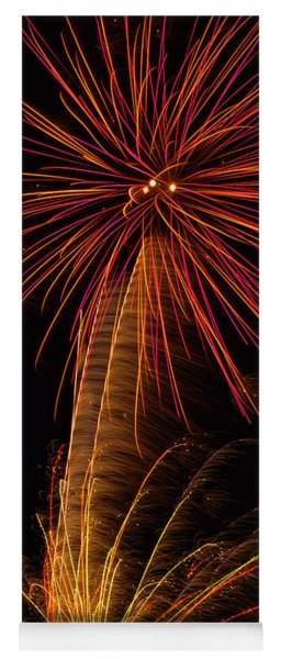 Fireworks Palm Tree Yoga Mat