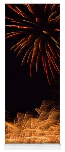Fireworks Static Yoga Mat