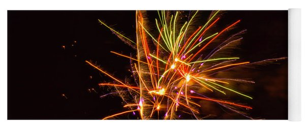 Fireworks Happy New Year Yoga Mat