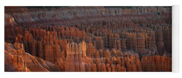 First Light On The Hoodoo Inspiration Point Bryce Canyon National Park Yoga Mat