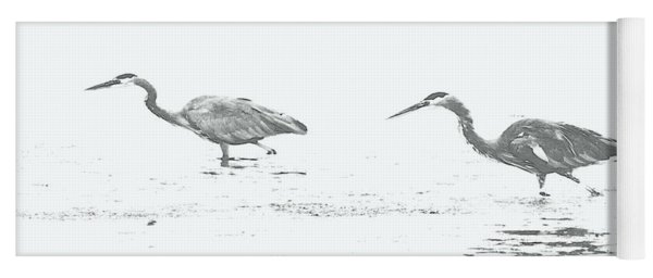 Fishing Blue Herons Yoga Mat