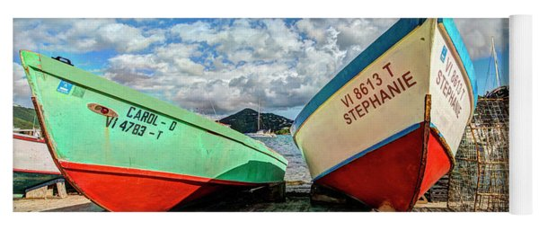 Fishing Boats In Frenchtown Yoga Mat