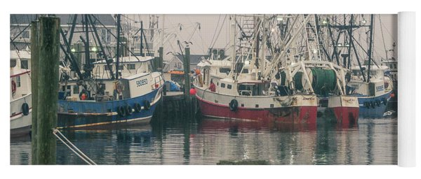 Yoga Mat featuring the photograph Fishing Boats by Steve Stanger